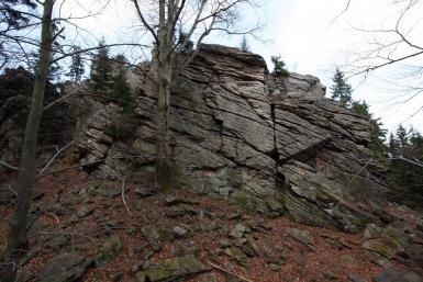 Skalny Mur - południowa ściana-